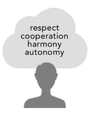 Respeto, cooperación, armonía, autonomía