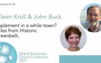 Implement in a whole town? Tales from Historic Greenbelt (Aileen Kroll & John Buck)