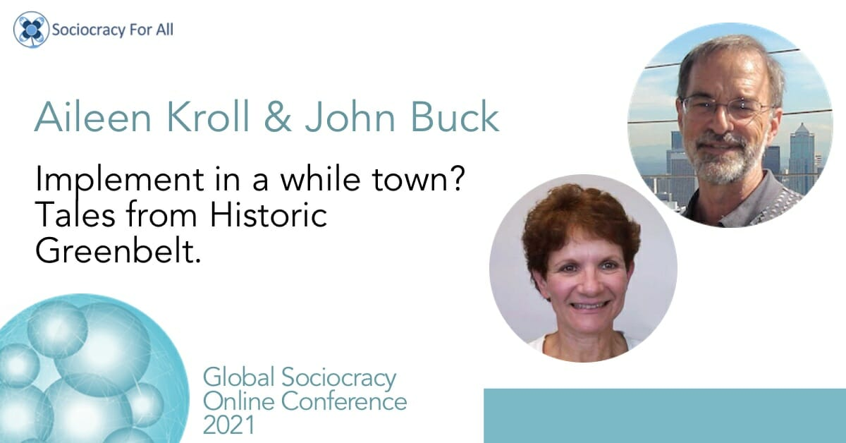 Implement in a whole town? Tales from Historic Greenbelt (Aileen Kroll & John Buck)