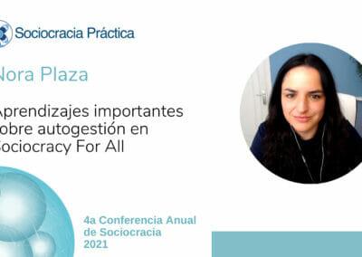 Aprendizajes importantes sobre autogestión en Sociocracy for All (Nora Plaza)