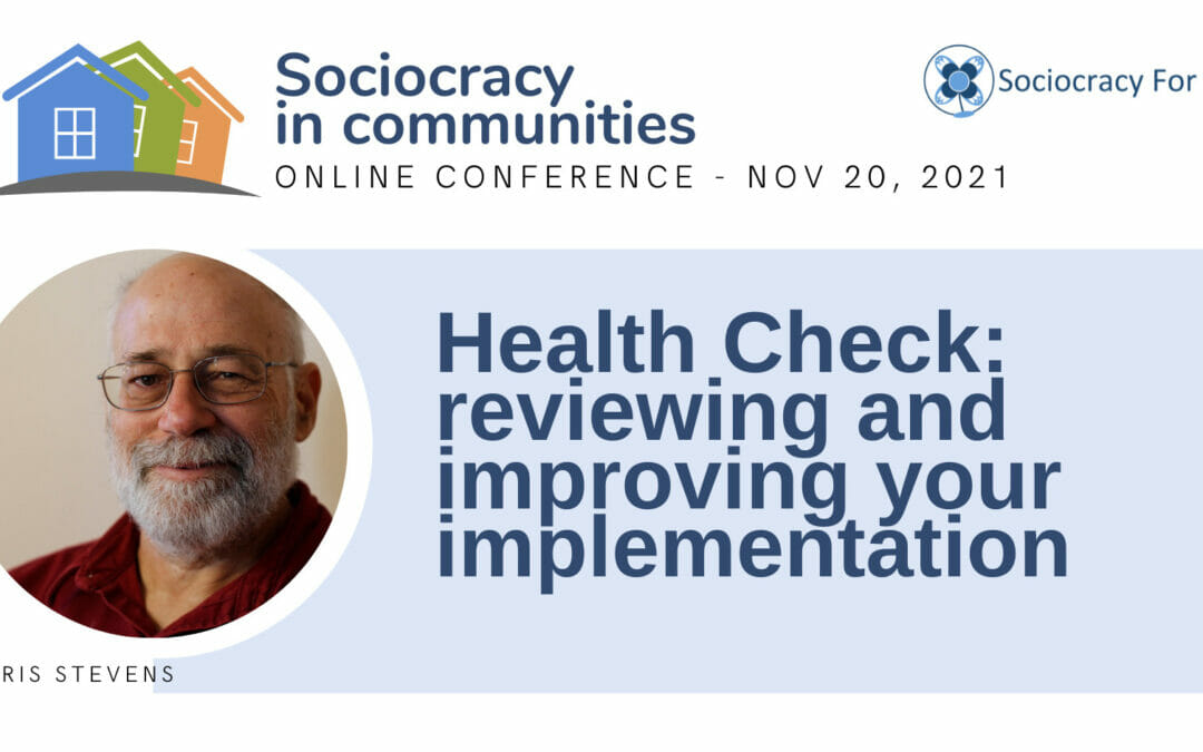 Health Check: reviewing and improving your implementation (Jerry Koch-Gonzalez)